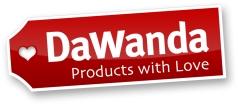 DaWanda-Logo als großes JPG (1500 Pixel Breite mit weißem Hintergrund und Schatten)